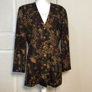 "Saks 5th Ave ""The Works"" Floral Silk Blazer"